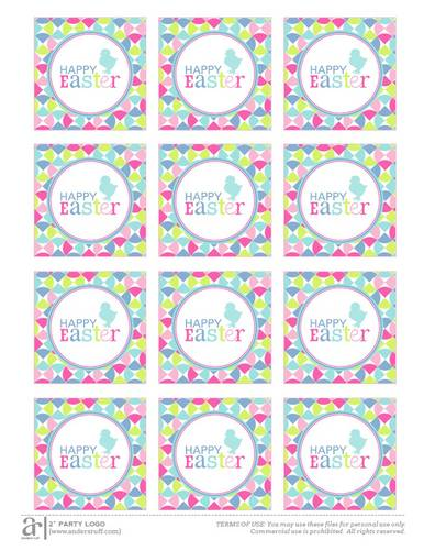 Happy Easter Printable - Label Templates - OL713 - OnlineLabels