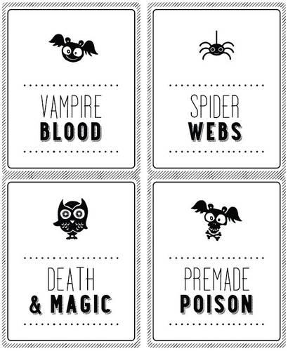 Halloween Soda Bottle Labels 2 Liter - Label Templates - OL475