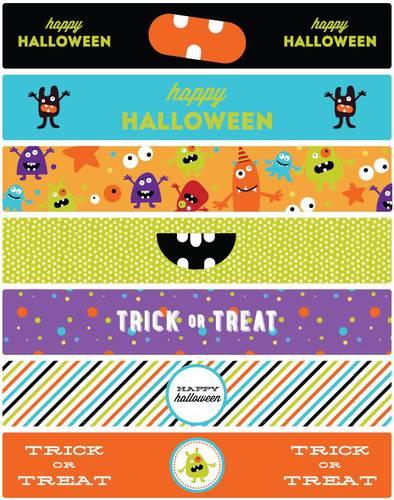 Halloween Water Bottle Labels Printable Monster Mash Theme - Label