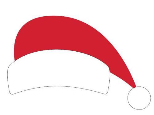 Santa Hat Printable Christmas Photo Booth Prop - Label Templates