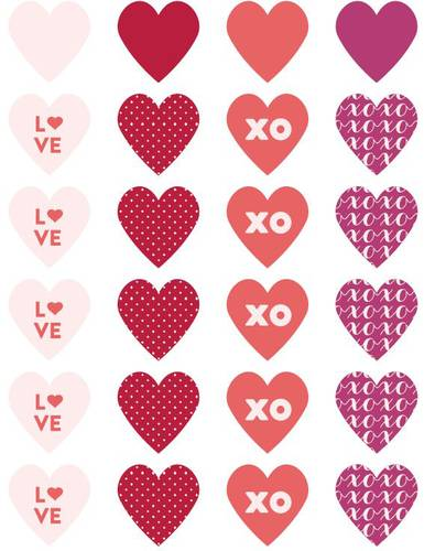 Assorted Heart Label Designs Free Printable - Label Templates