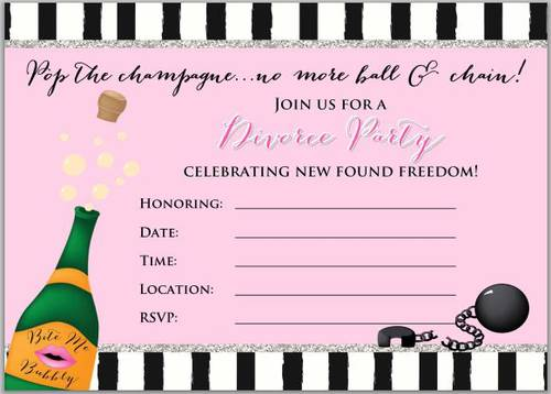 Divorce Party Invitation Design - Free - Label Templates - OL267