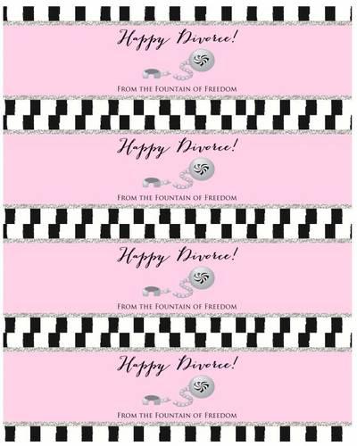 Happy Divorce - Water Bottle Labels for Divorce Party - Label