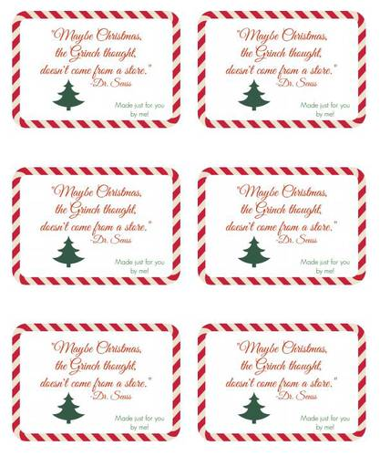 Seuss Handmade Gift Christmas Label Design - Label Templates - OL150