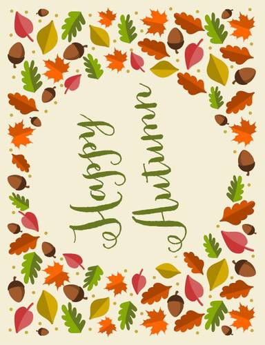 Happy Autumn Decor Sign - Label Templates - OL175 - OnlineLabels
