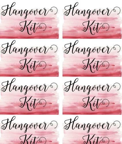 Hangover Kit Wedding Label - Label Templates - OL600 - OnlineLabels