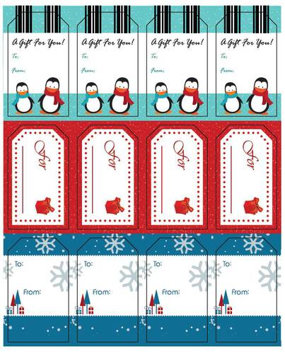 Assorted Holiday Gift Tags - Label Templates - OL1763 - OnlineLabels - gift tag template