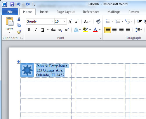 microsoft word label templates