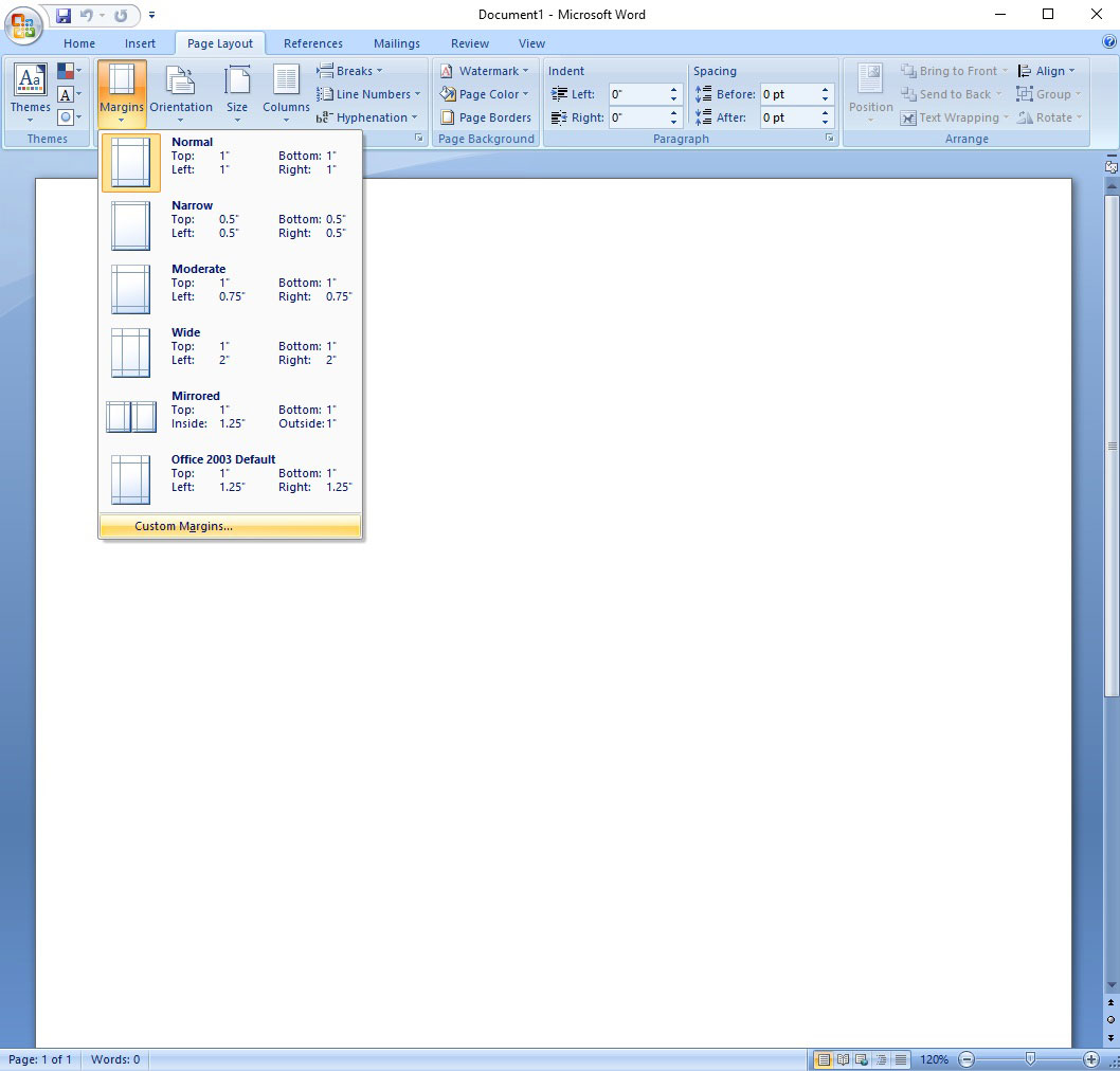 printing labels on word