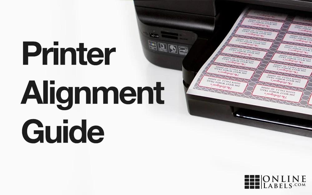 Printer Alignment Guide - OnlineLabels