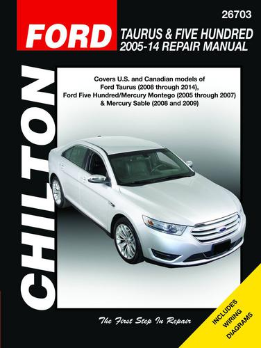 Chilton 05-14 Ford Taurus And Five Hundred Technical Specification