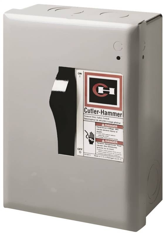 Cutler-Hammer DP221NGB Safety Switches, Indoor, Nema 1, 30 Amp