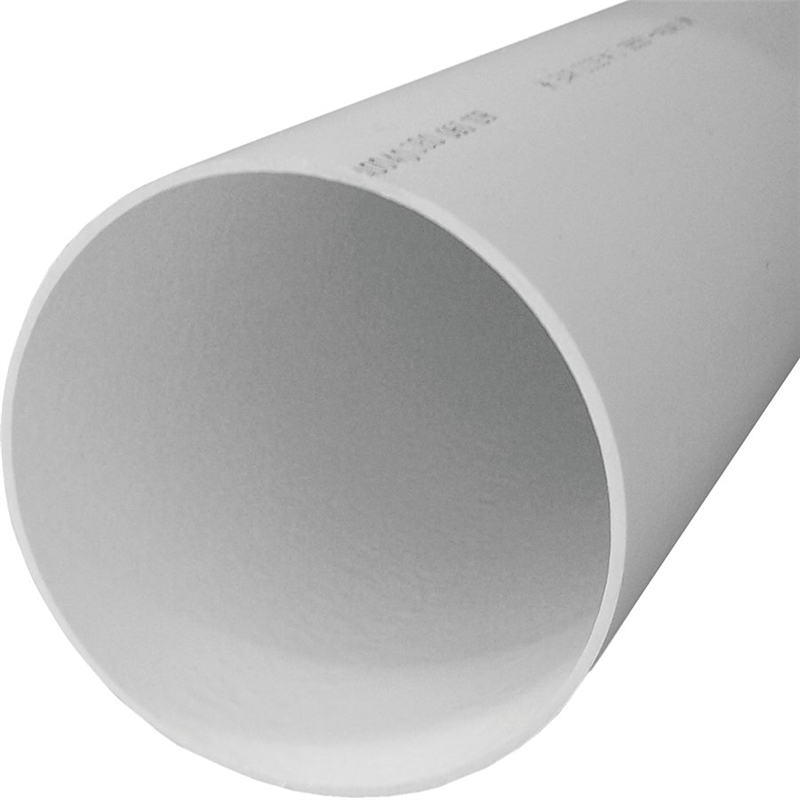 Genova 40040 Solid Sewer Pipe, 4 in Dia X 10 ft L, PVC