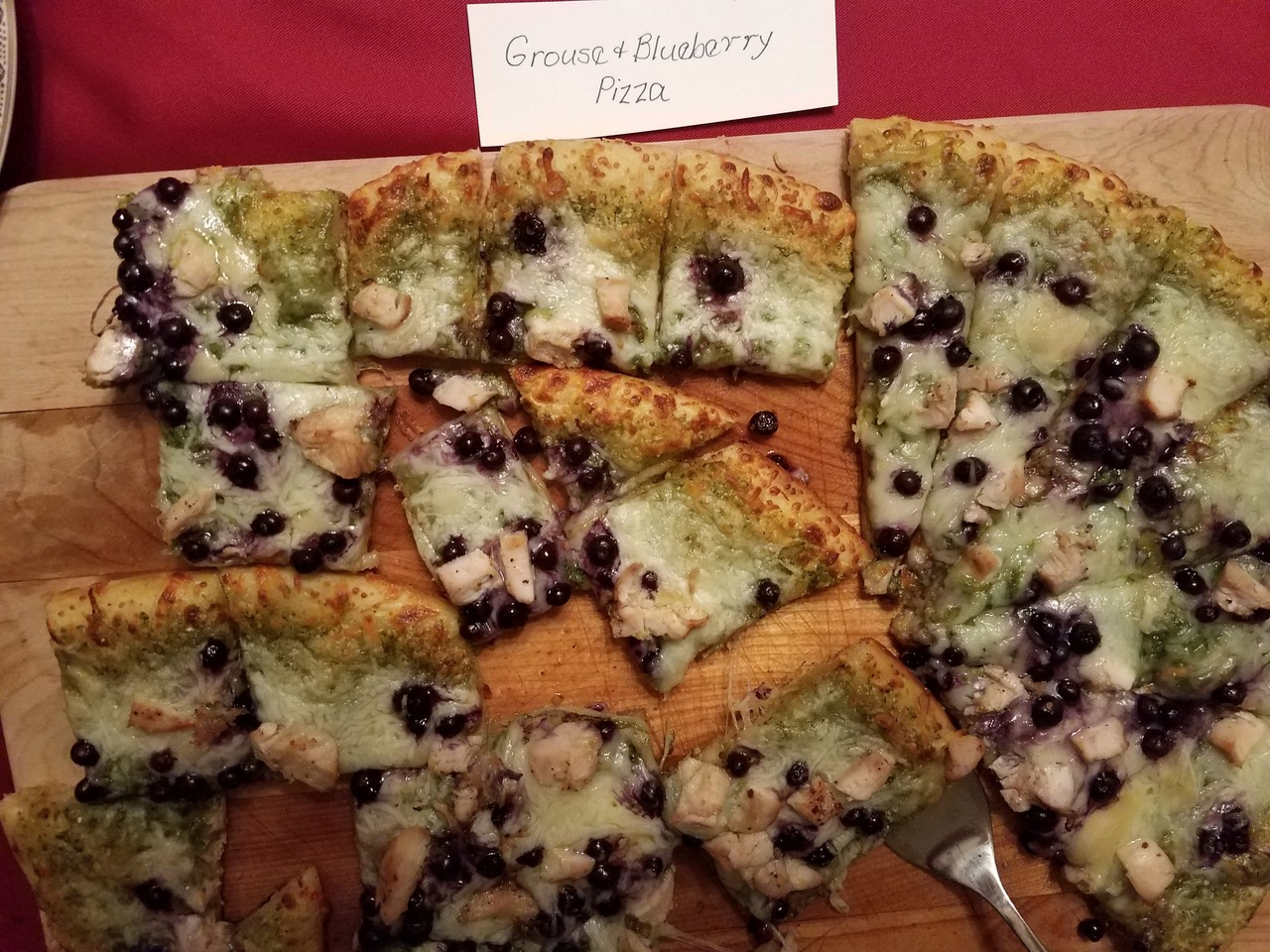 Pierre A Pizza Blueberry Grouse Pesto Pizza Outdoornews