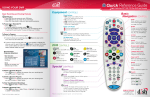 Dish Network DVR And Remote Quick Reference Guide