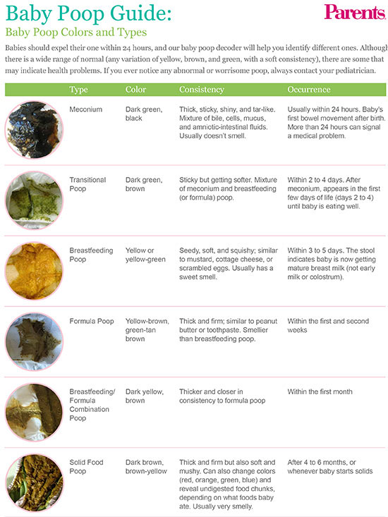 Baby Poop Guide Colors and Types - stool color chart