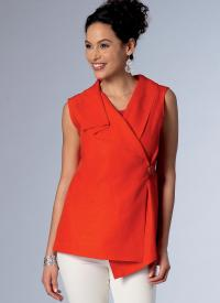 Butterick 6357 Misses' Sleeveless Wrap Tops with Draped ...