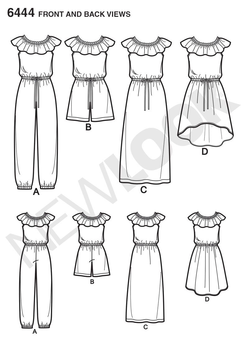 girls dress and jumpsuit in two lengths new look sewing auto