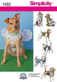 Simplicity 1482 Dog Clothes in Three SizesS, M, L