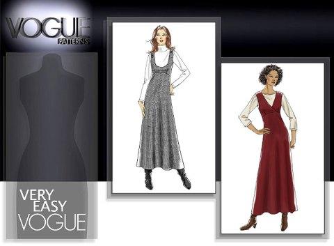 Patterns  Vogue Patterns  Dresses  8410 MISSES JUMPER Sewing Pattern Jumper