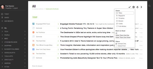 Feedly list view