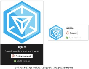 Google+ Badge for Communities
