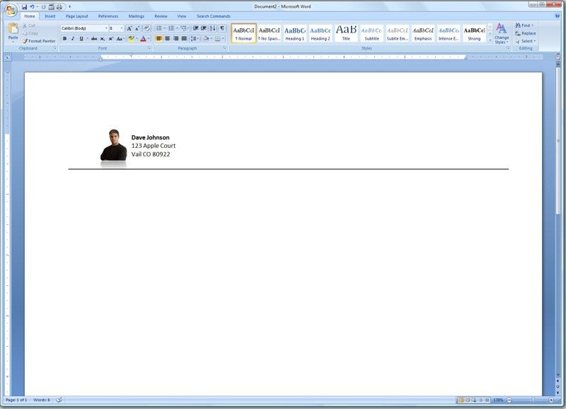 Add a Photo to Your Letterhead TechHive - a letter head
