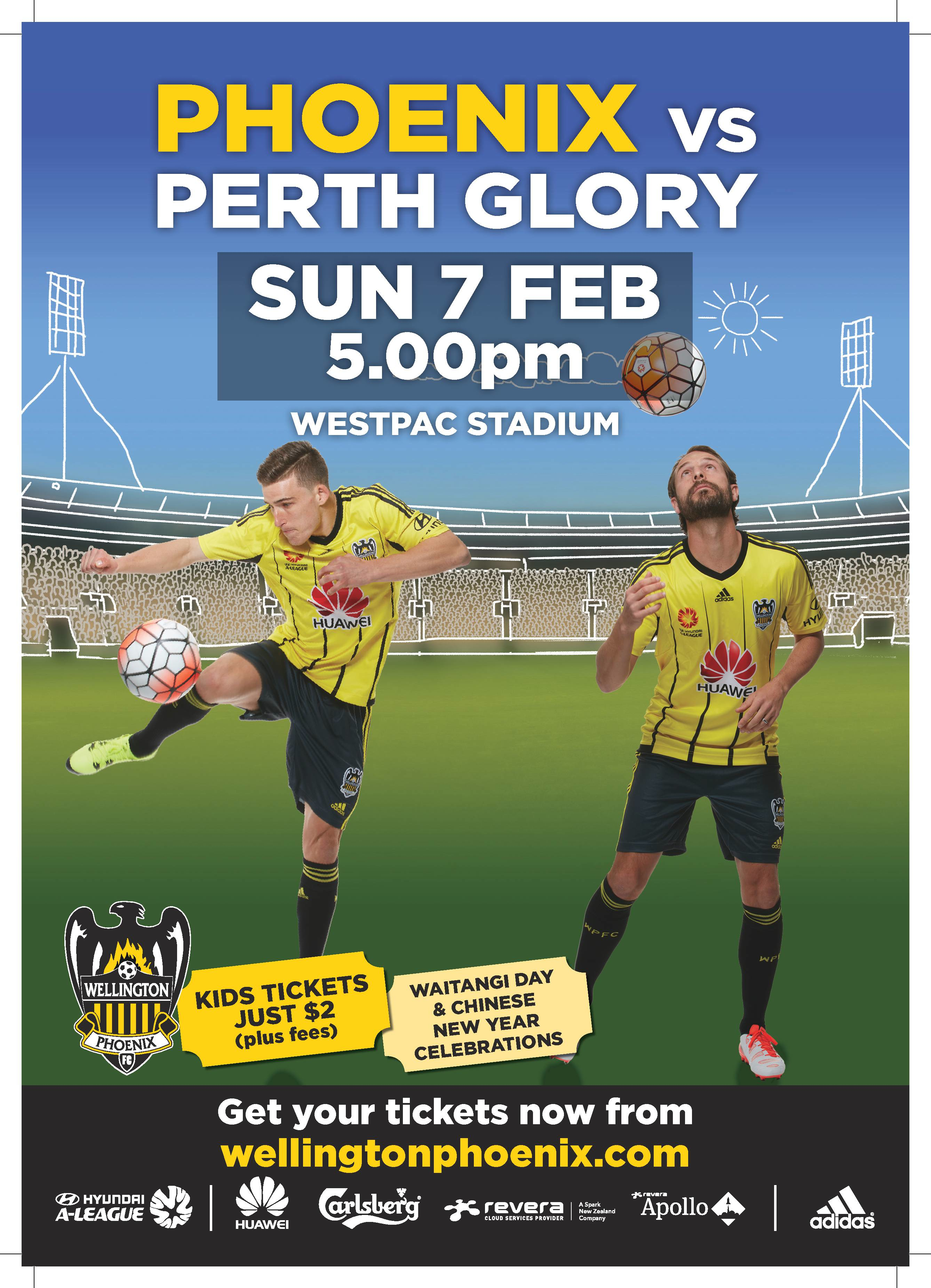 Posters Perth Game Day Poster Wellington Phoenix