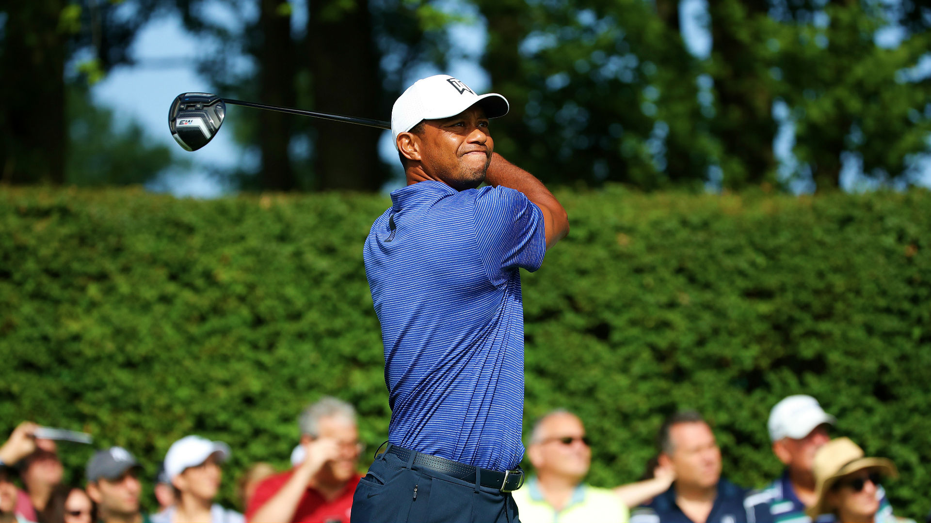 tiger woods score northern trust round 2