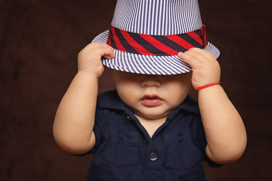 Toddler Child Hat Size Black And White Stripes Fedora Hat · Free Stock Photo