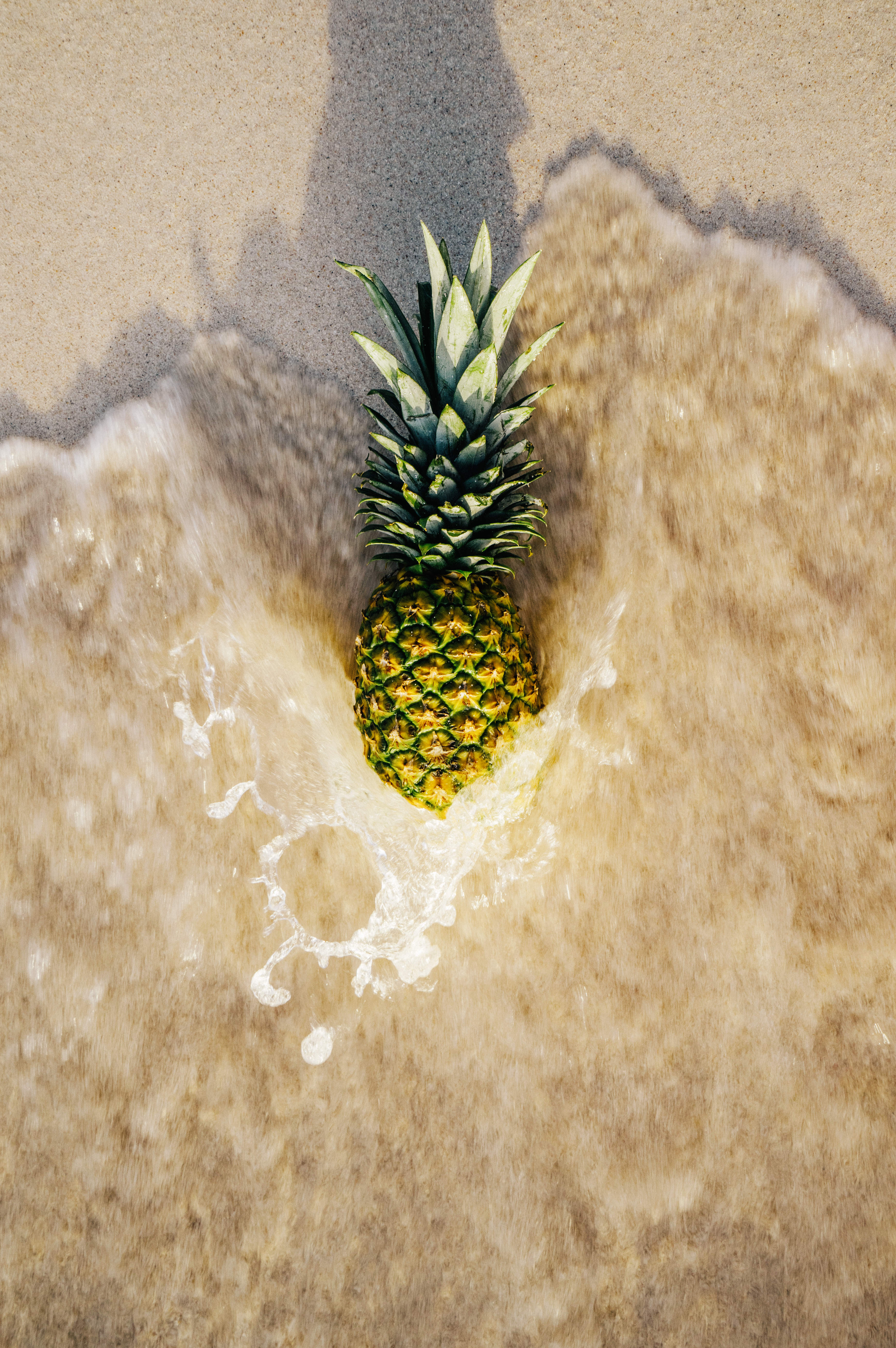 Cute Wallpaper Hd For Phone Pineapple Fruit On Shore 183 Free Stock Photo