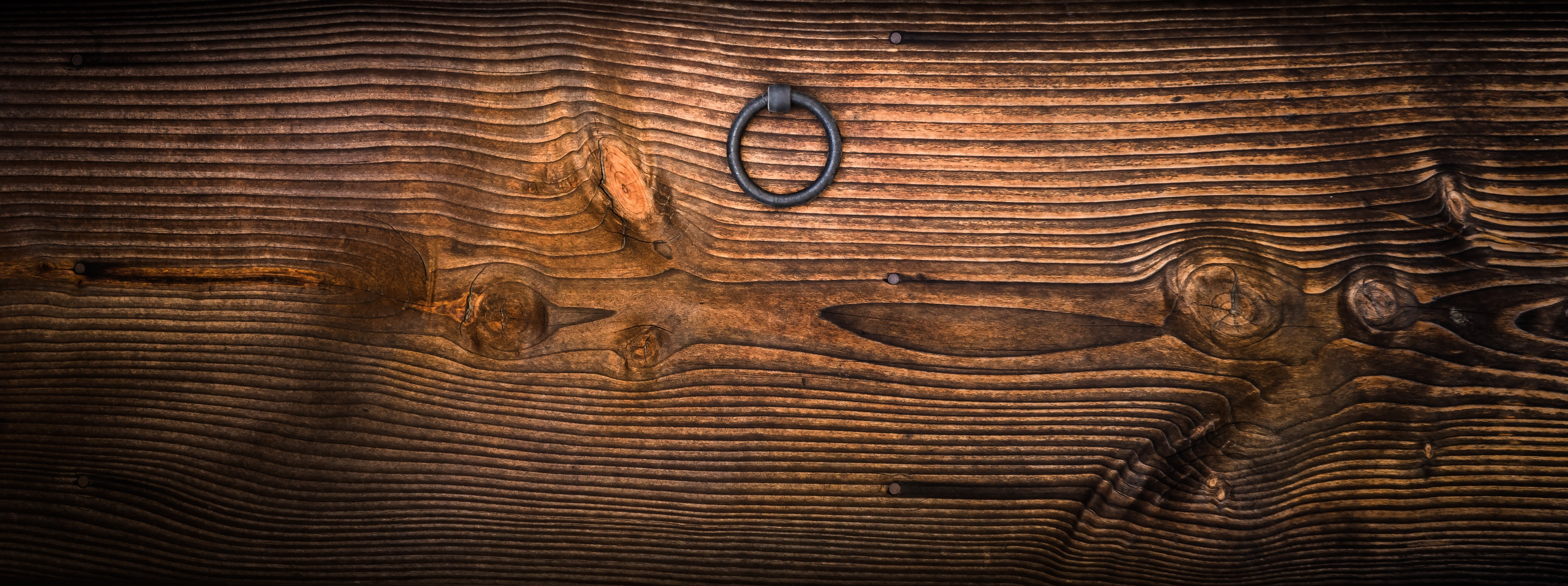 Fall Pictures For Wallpaper Free Gray Metal Door Knocker On Wooden Panel 183 Free Stock Photo