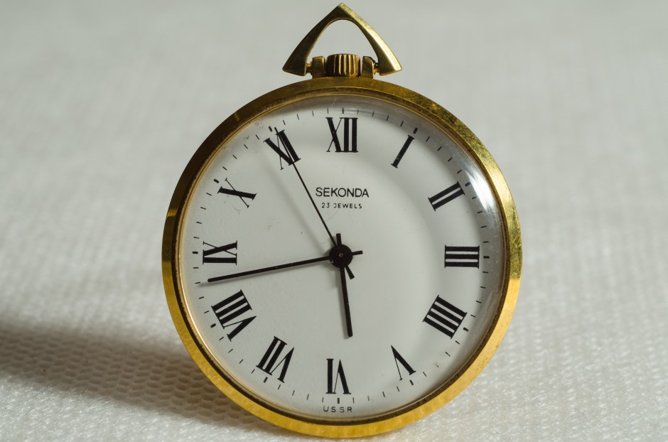 Vintage Black Wallpaper Brass Pocket Watch Pointing At 5 43 183 Free Stock Photo