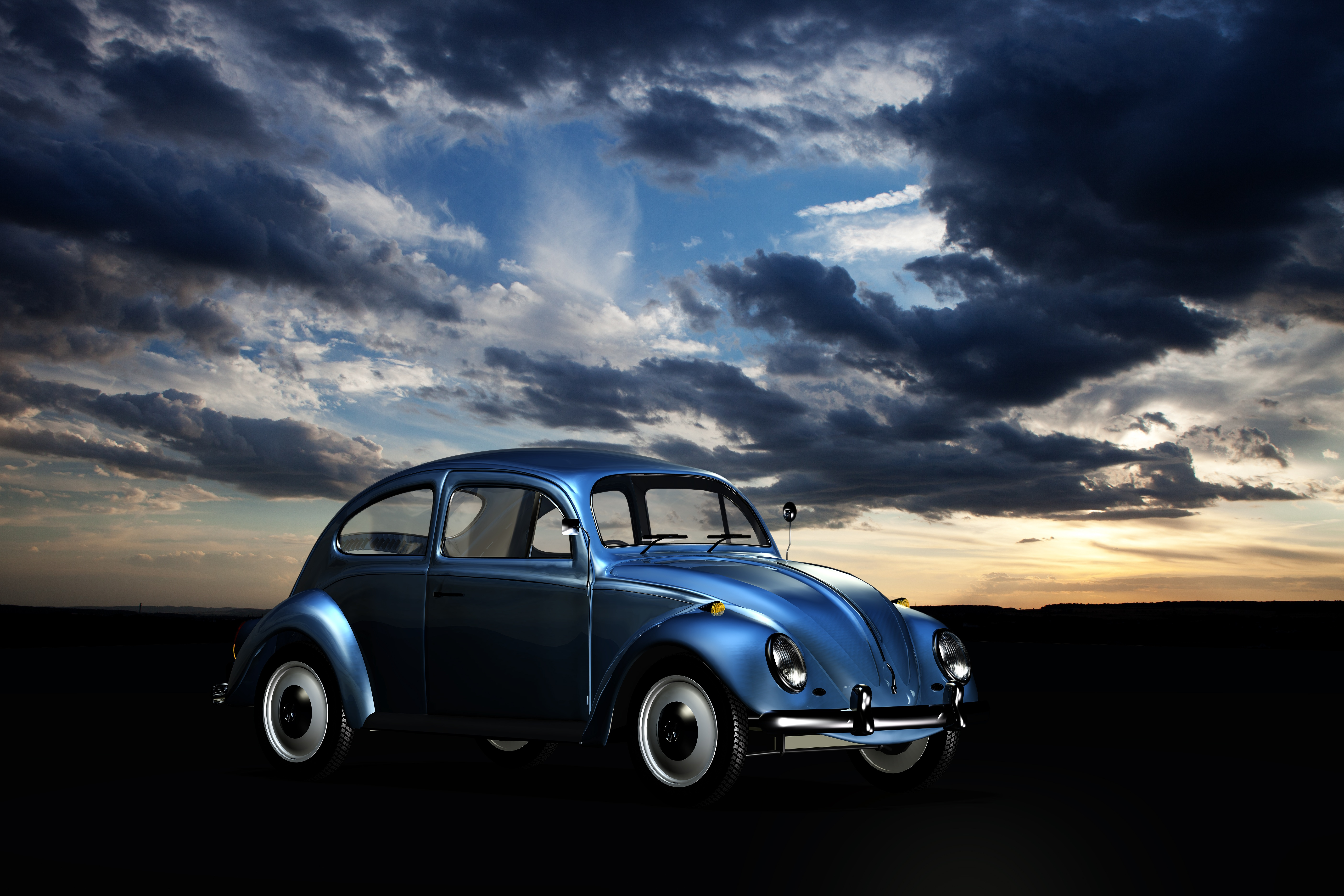 Black And White Car Wallpaper Beige Volkswagen Beetle 183 Free Stock Photo