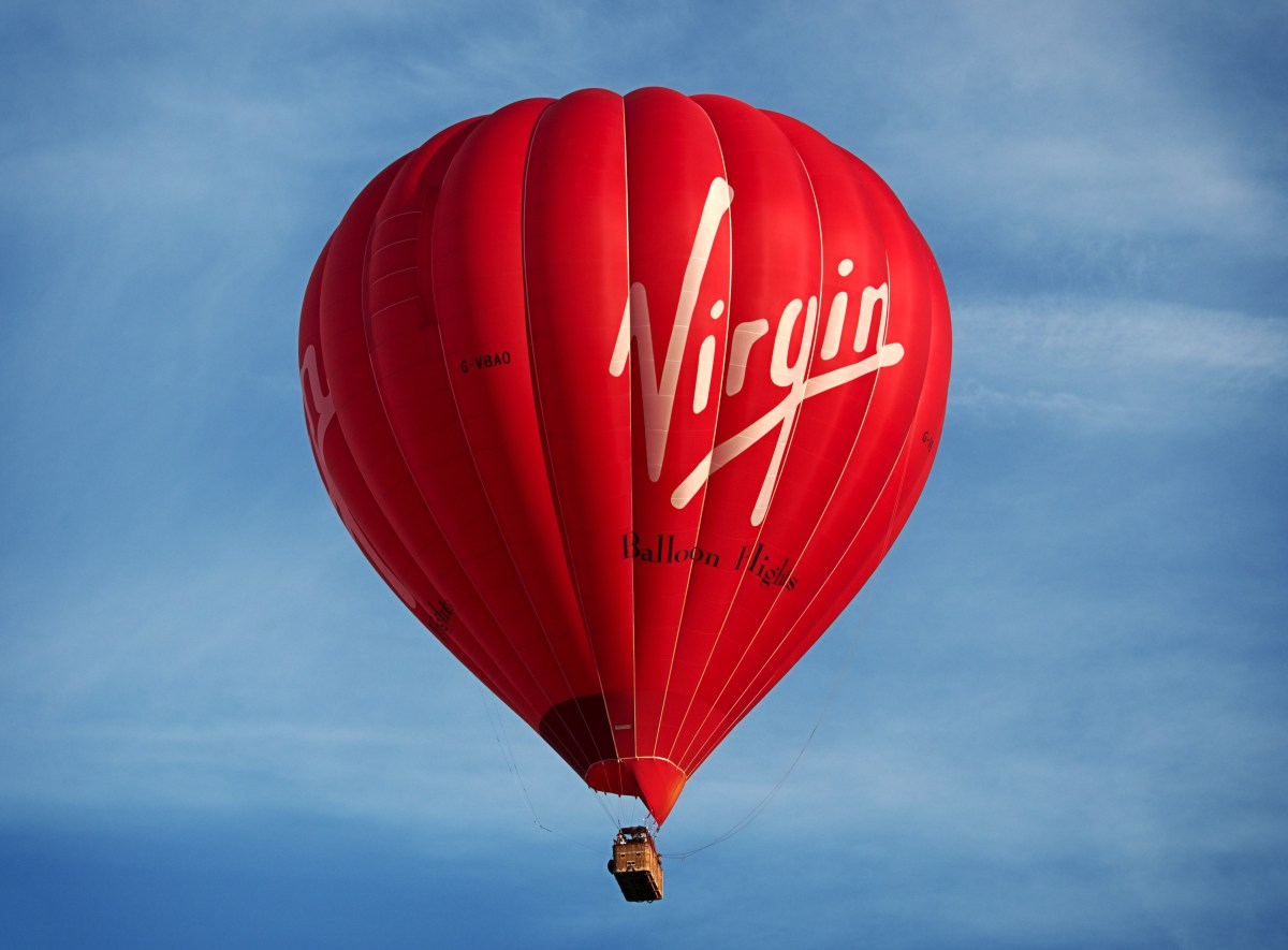 Black Red Wallpaper Red Virgin Hot Air Balloon 183 Free Stock Photo