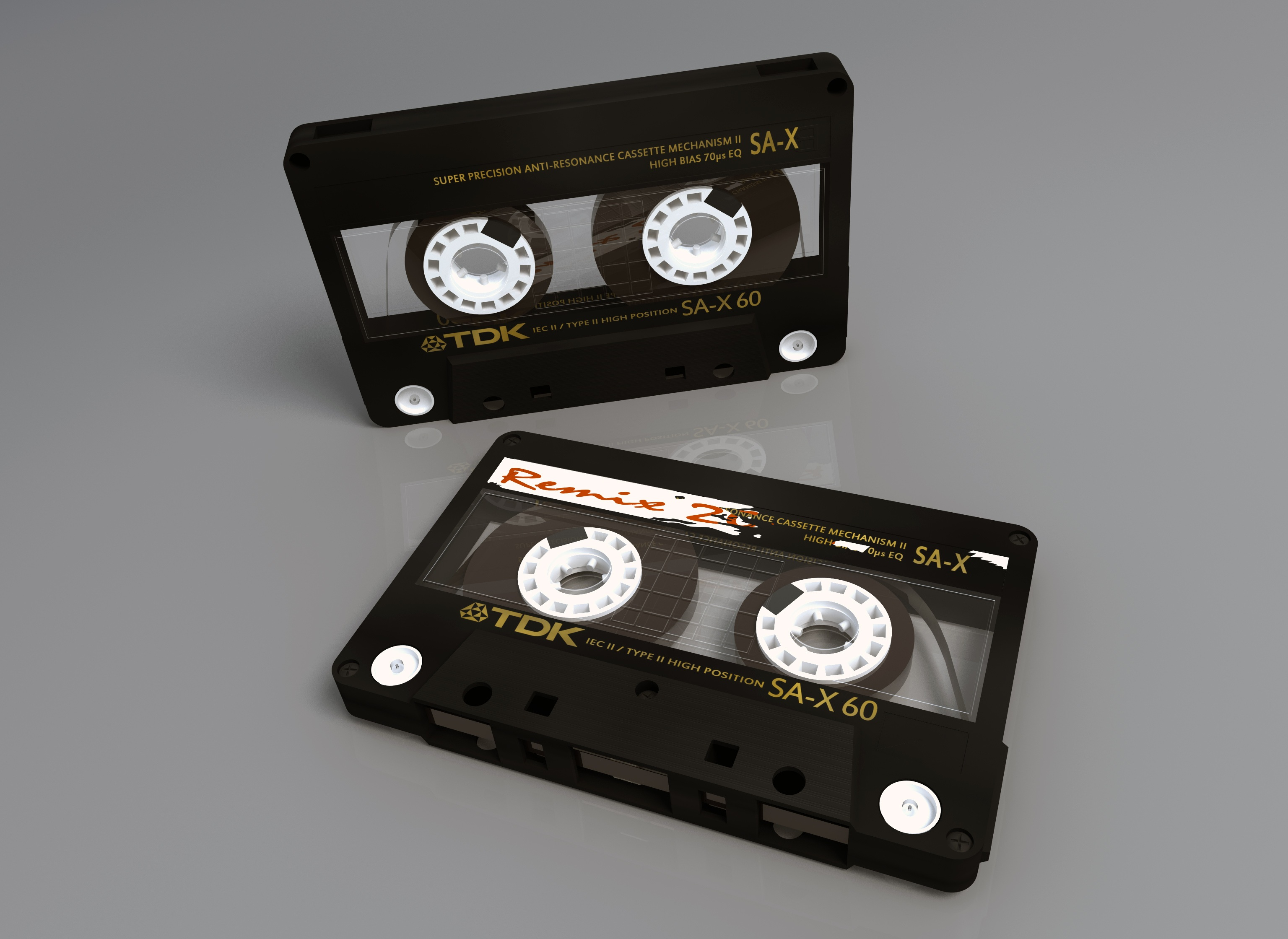 White Tape Black And White Cassette Tape Free Stock Photo