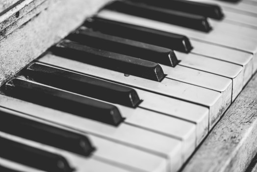 Black Desert Hd Wallpaper Grayscale Piano Keys 183 Free Stock Photo
