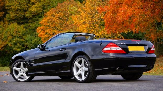 Black Text Wallpaper Black Mercedes Benz Convertible Coupe Sl Class 183 Free