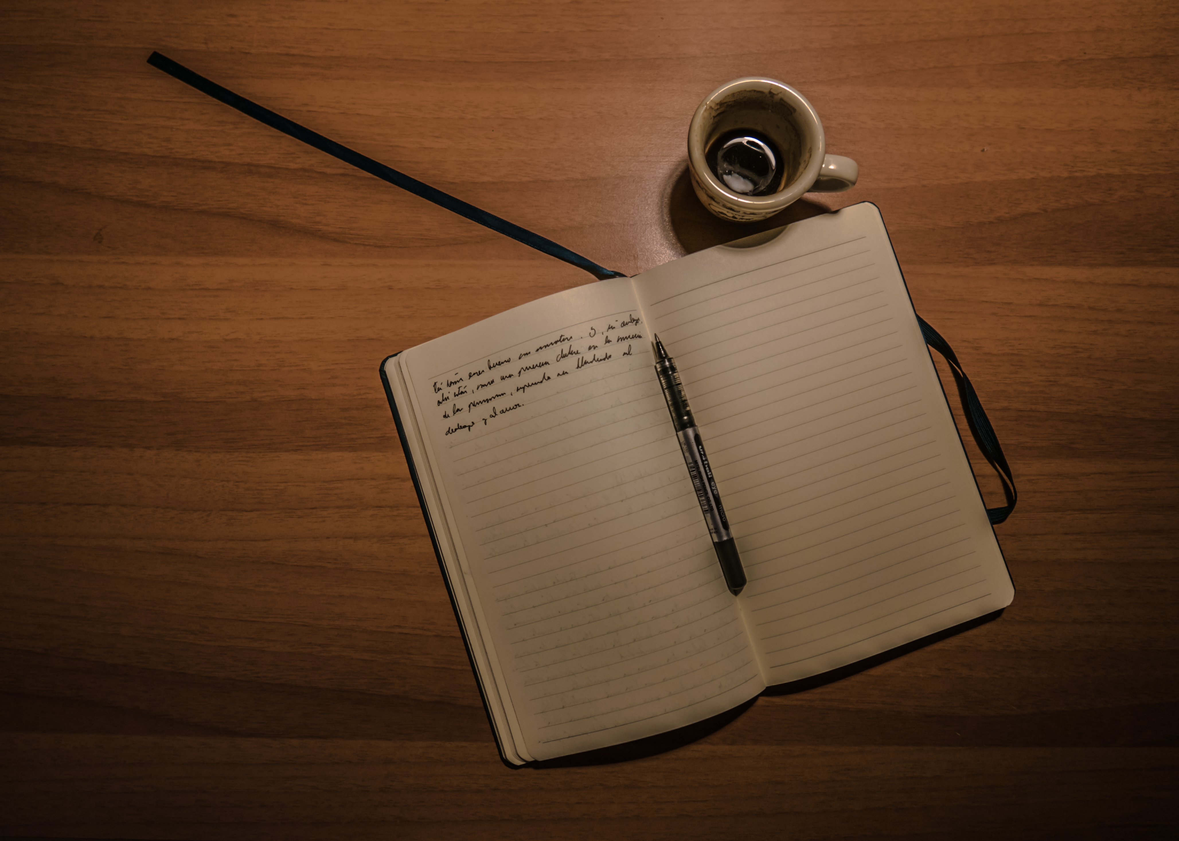 Black And White Phone Wallpaper Blank Paper With Pen And Coffee Cup On Wood Table 183 Free