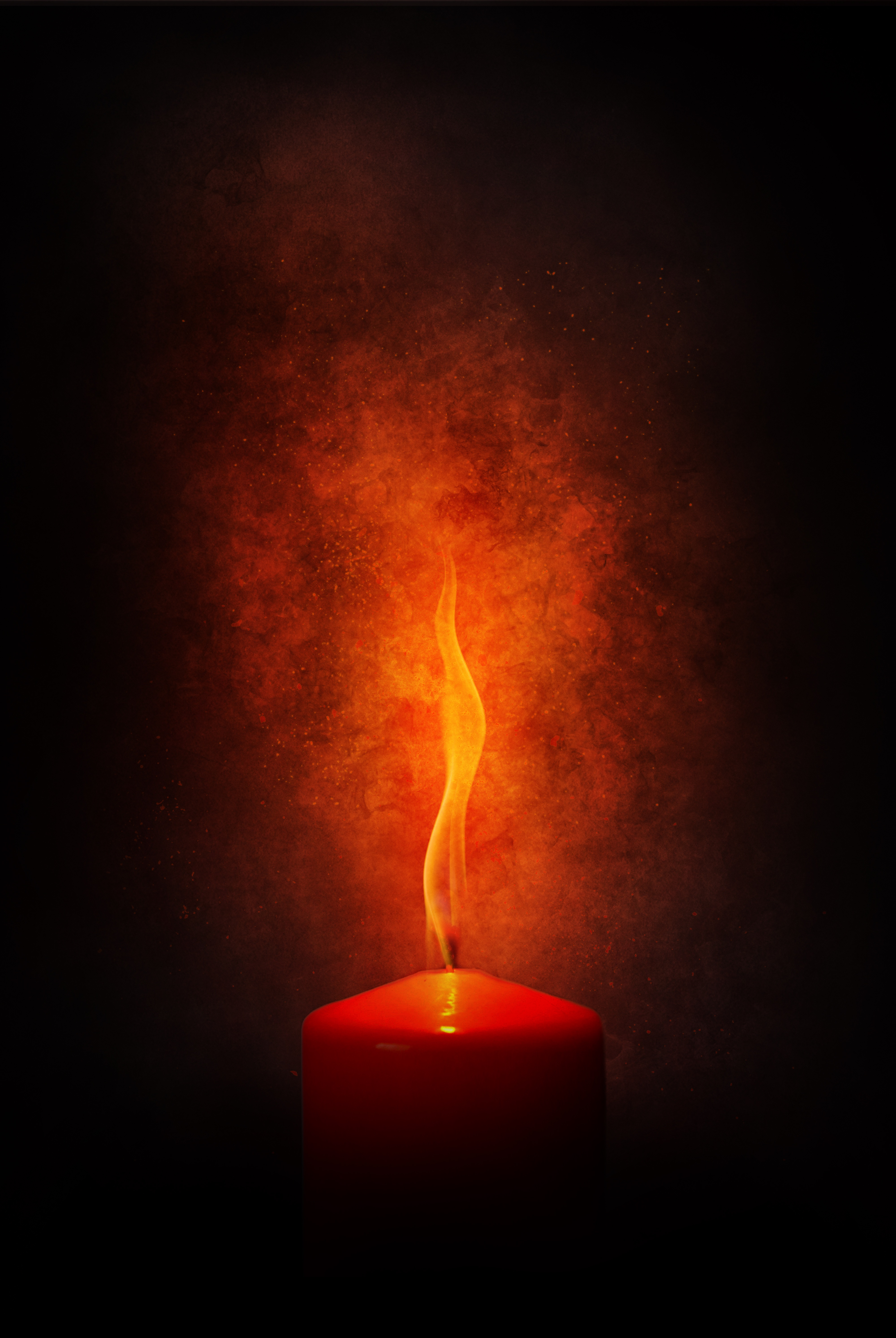 Photos Red Candle Free Stock Photo