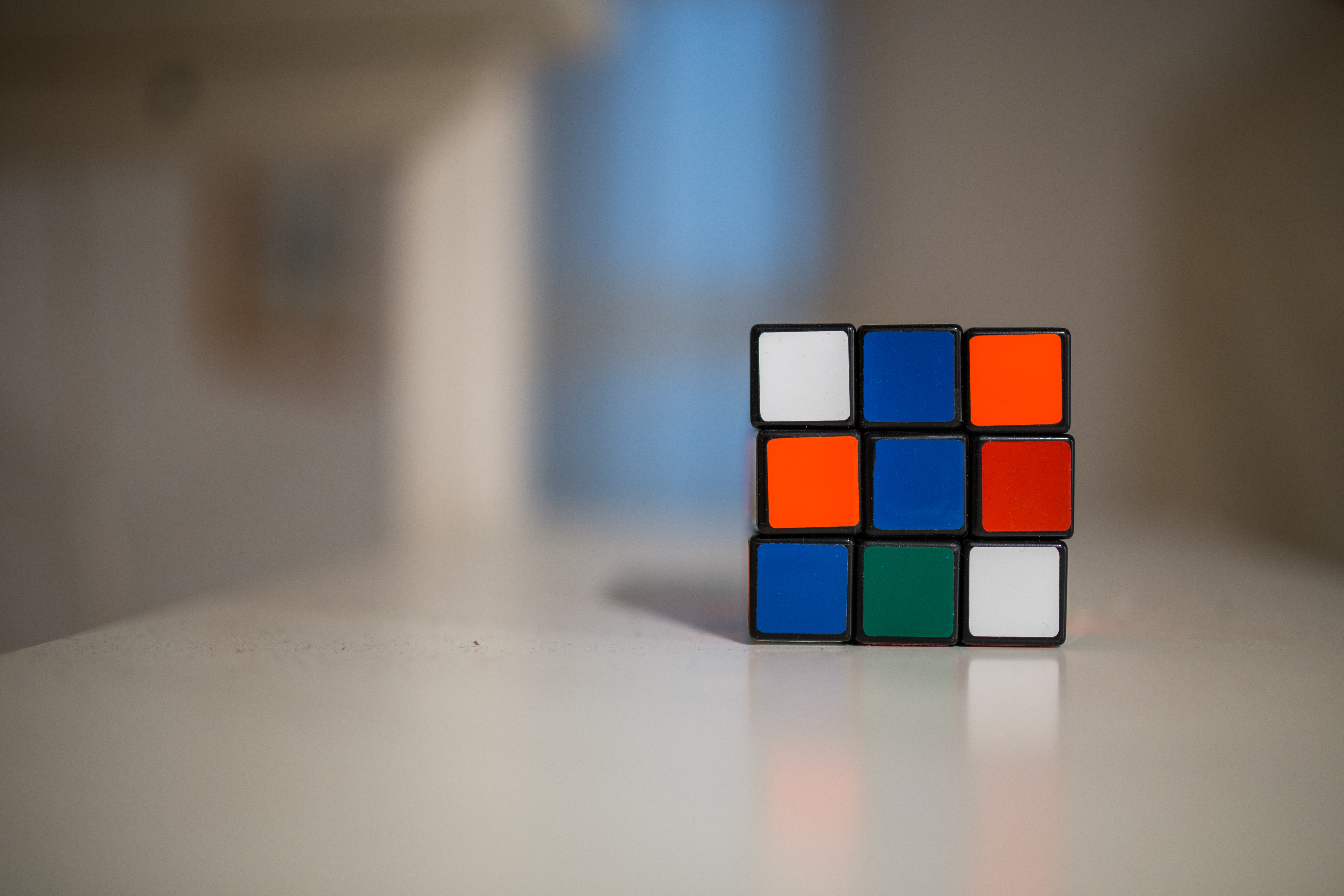 4k Hd Wallpapers For Iphone Blue And White Orange Green Rubik S Cube 183 Free Stock Photo