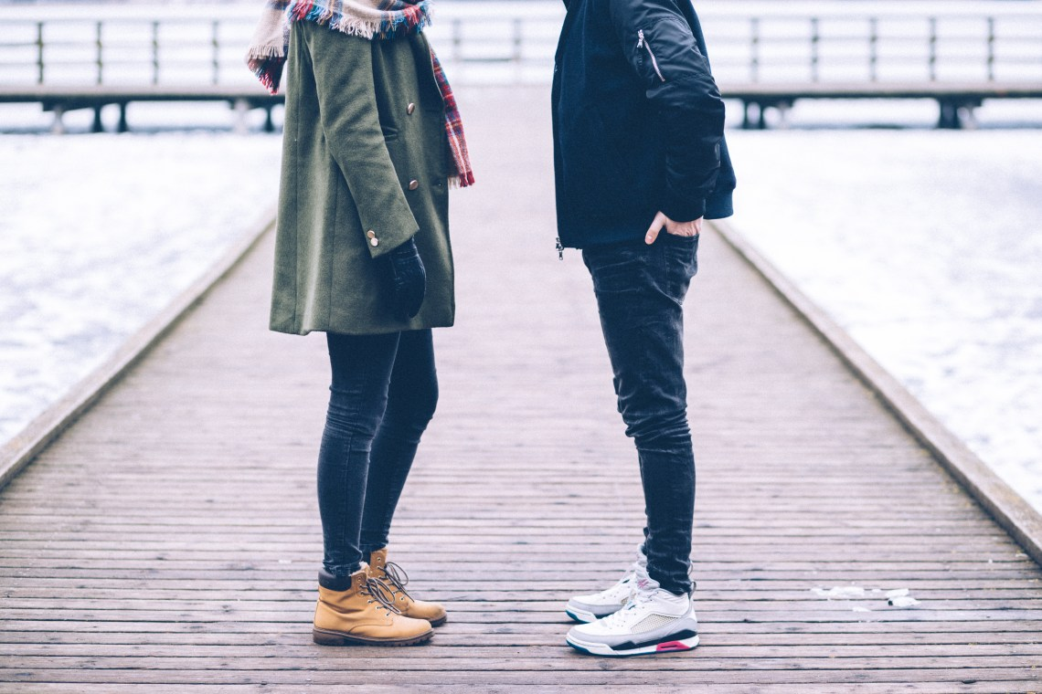 Free stock photo of cold, fashion, man, couple