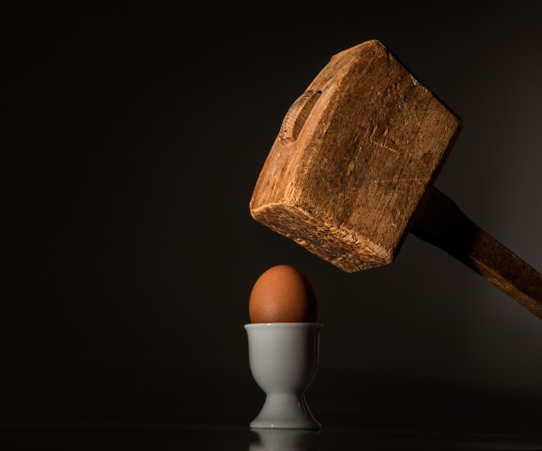 Brown Wooden Mallet Near Brown Chicken Egg