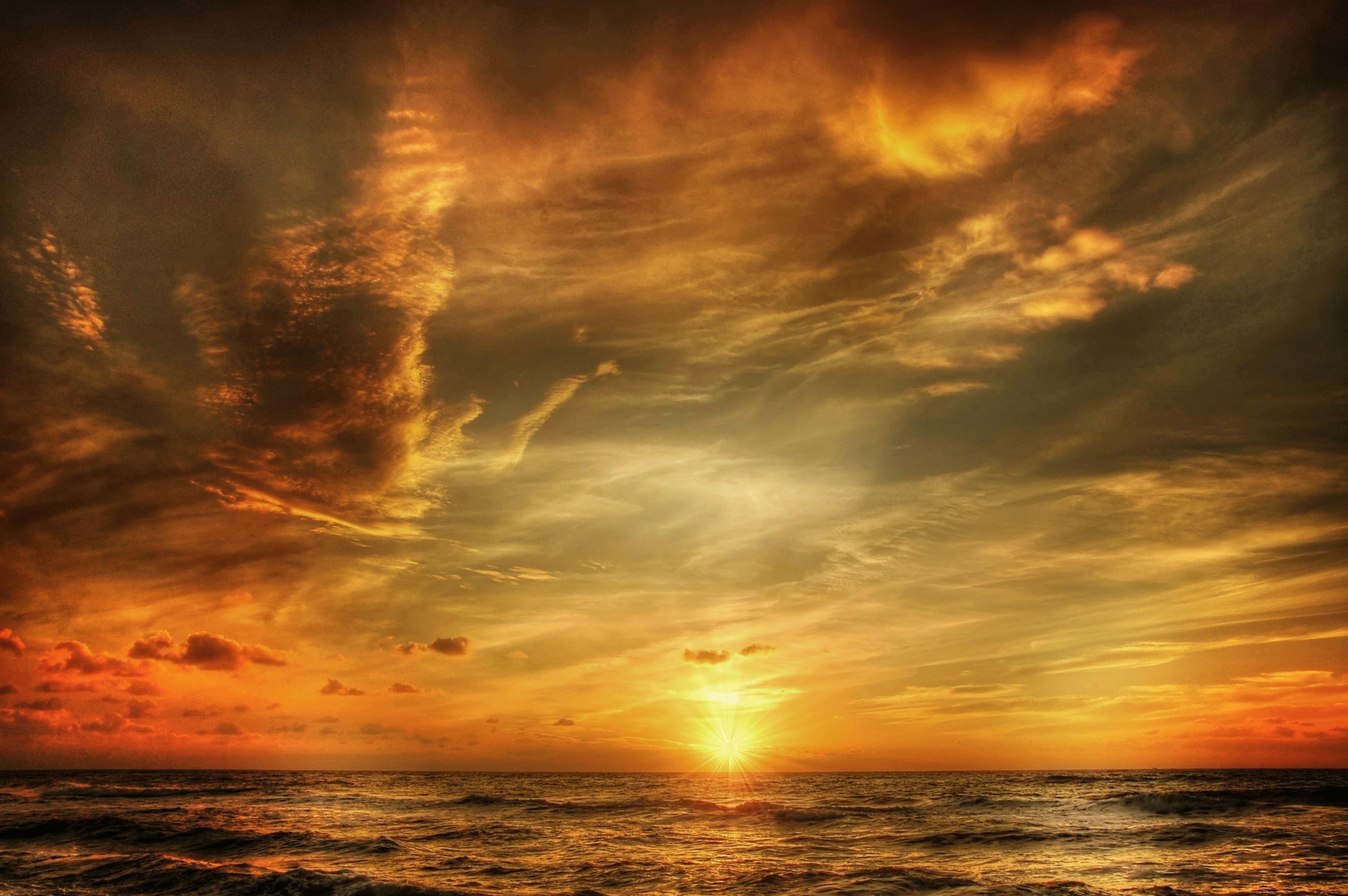 Wallpaper Black Orange Free Stock Photo Of Clouds Sea Sky