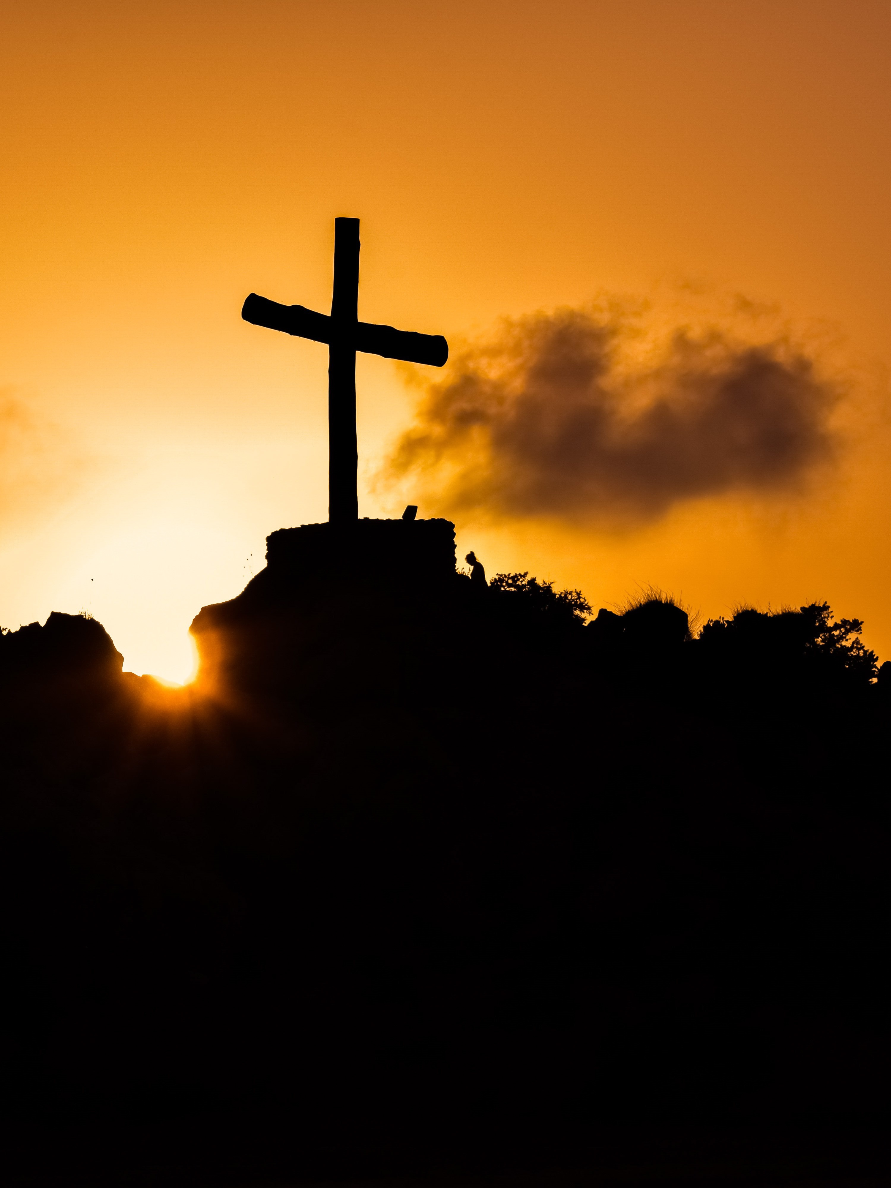Cool Iphone 4 Wallpapers Hd Free Stock Photo Of Christianity Cross Hill