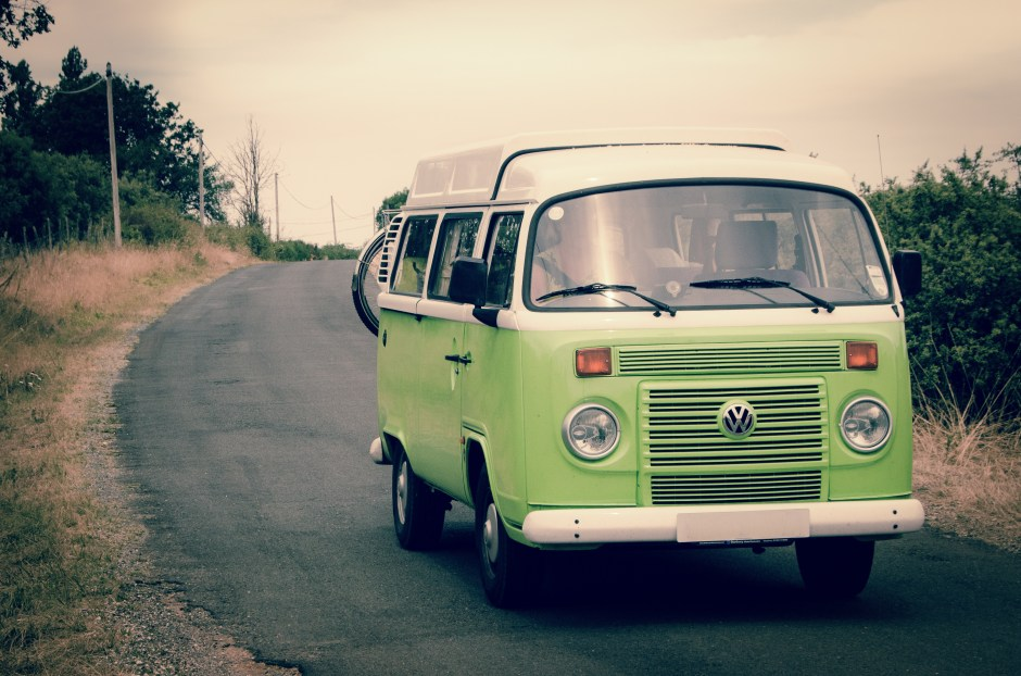 Custom Classic Car Wallpapers Green And White Volkswagen Combi 183 Free Stock Photo
