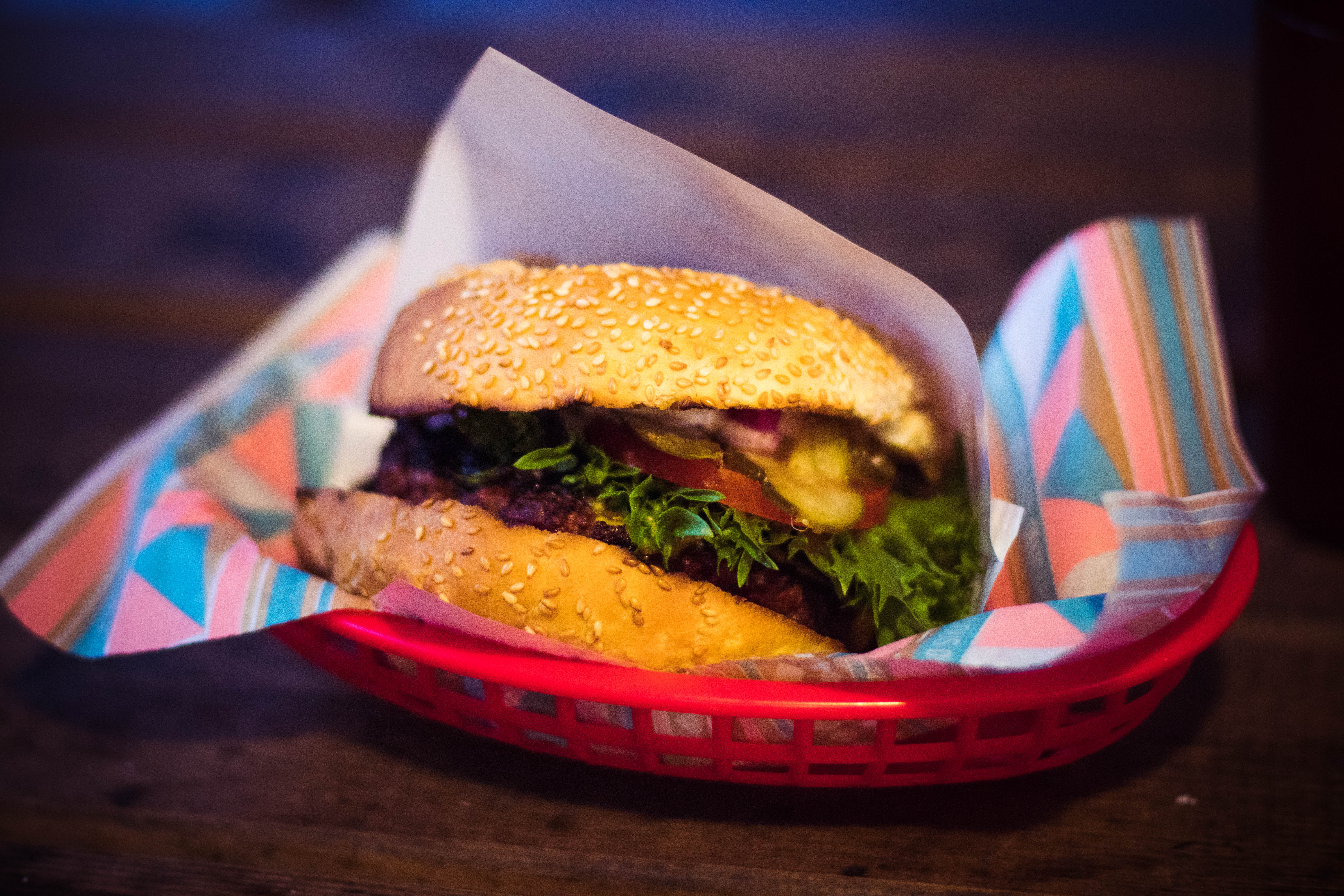 Small Size Car Wallpapers Hamburger On Plate 183 Free Stock Photo