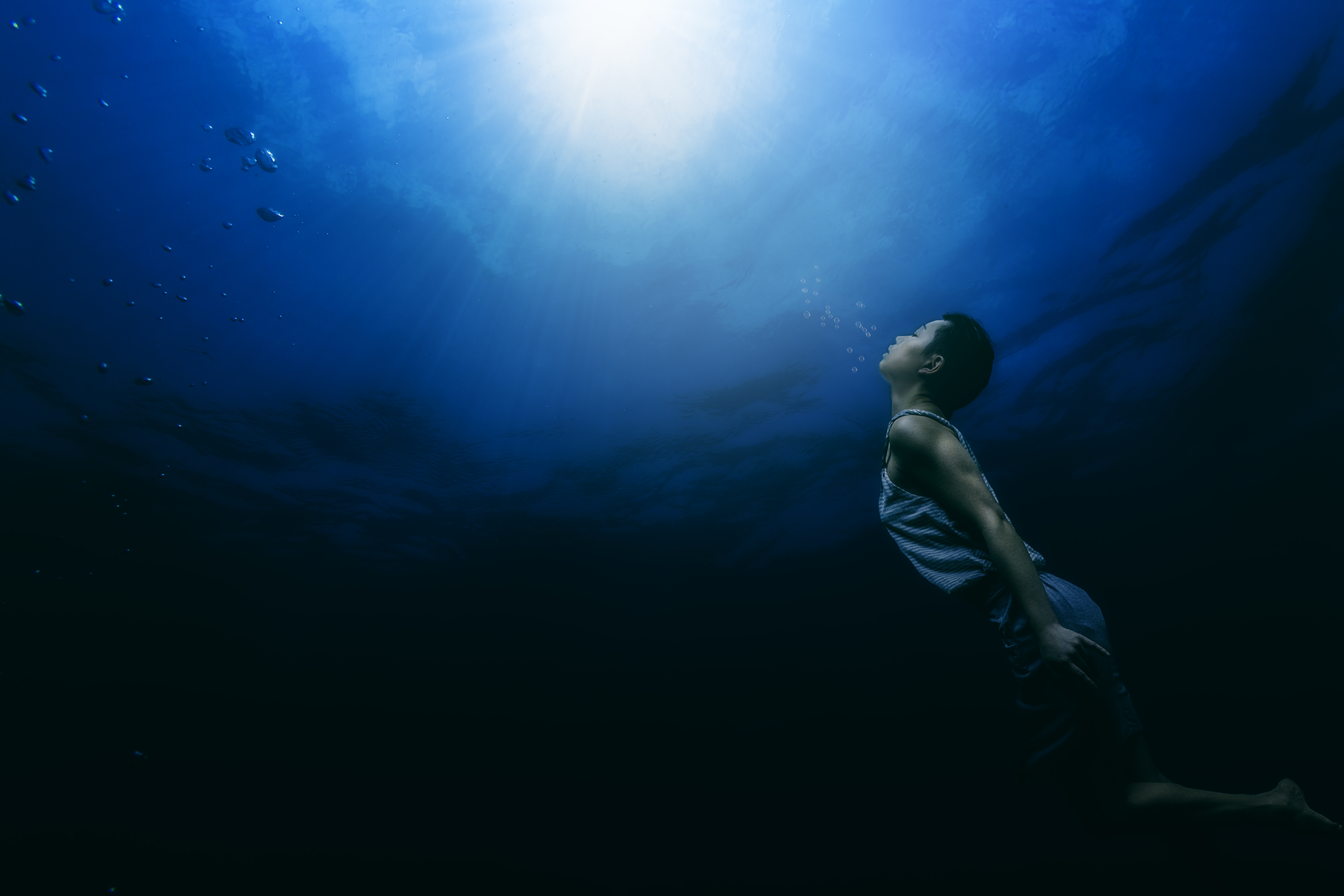 Falling Water Wallpaper Painting Of A Person Swimming Underwater 183 Free Stock Photo