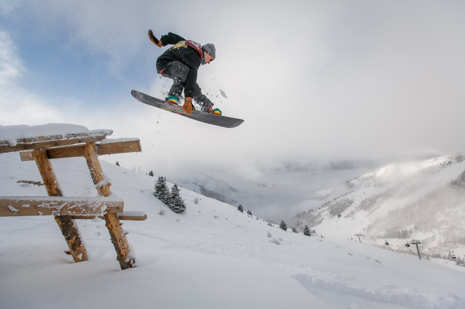 Adobe Stock Jump Man In Black Snowboard With Binding Performs A Jump · Free
