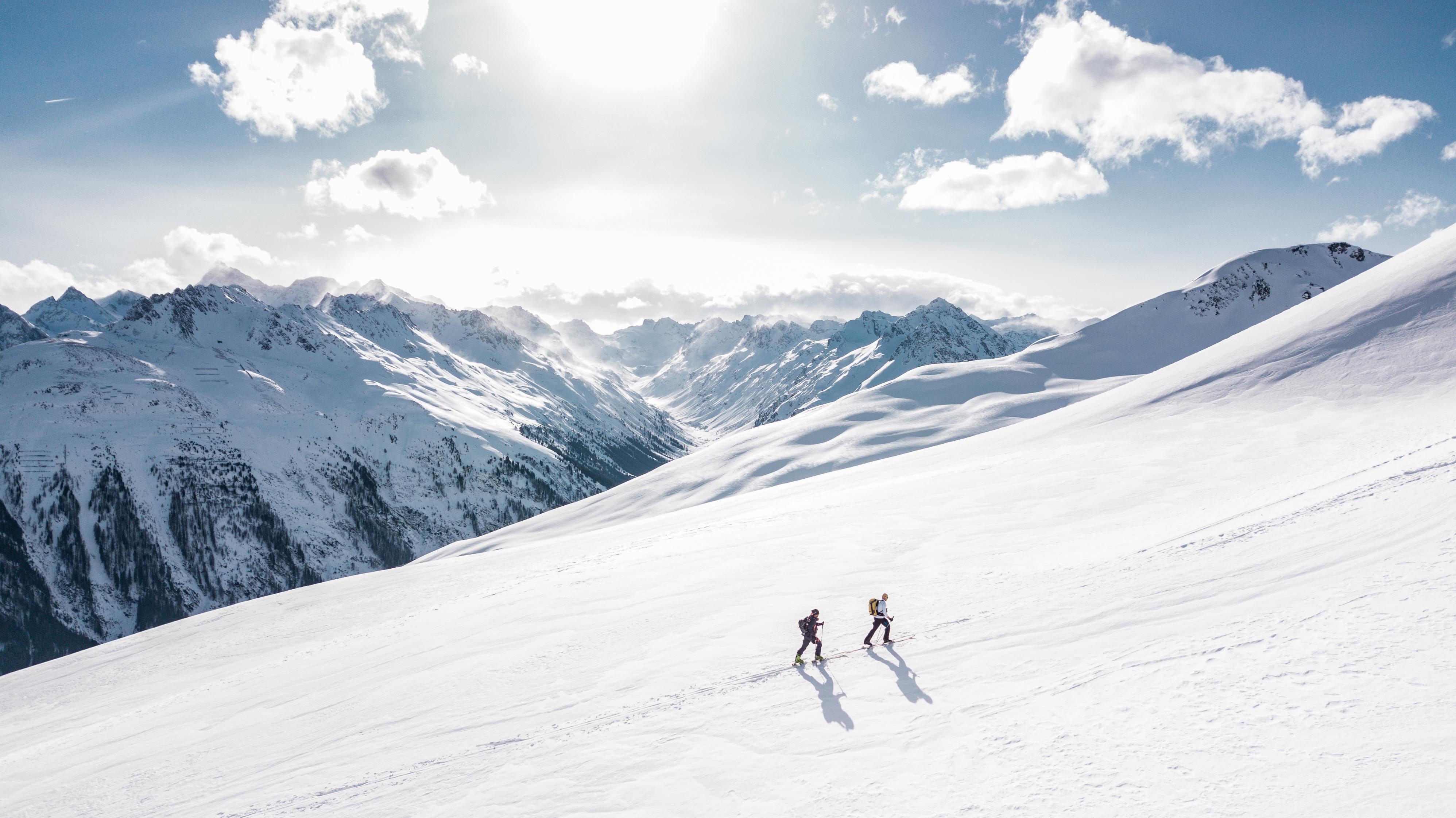 Dune Quote Wallpaper Two Man Hiking On Snow Mountain 183 Free Stock Photo